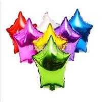 ingrosso colori di matrimonio metallico-Palloncino stella stagnola da 45 pollici / 45 cm Palloncino stella stagnola / 45 cm - 7 colori a scelta - Matrimonio metallizzato con elio DHL Fedex Free 18