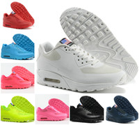 High Quality 2020 Original Mens 90 HYP PRM Qs Sneakers Independence Day uomo casual Scarpe da corsa Air90 Zapatillas USA Flag formato 36 46