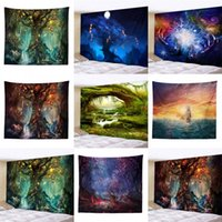 Wholesale sale printed towels resale online - Star Sky Tapestries Dream Tree D Printing Tapestry beach towel For Living Room Decoration Eco Friendly Wear Resistant Hot Sale rr UU