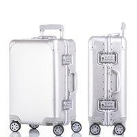 ingrosso bagagli in lega-New Fashion in lega di alluminio tirante valigia 20/24/29 pollici in metallo bagaglio alla moda nuovo tipo di valigia bagagli scatola tirante