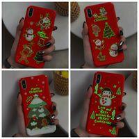 Wholesale hard glow dark case online – custom Merry Christmas Hard PC Case For iphone XS MAX XR X Plus S Luminous Glow in Dark Santa Claus Hat Tree Elk Snow Snowman Gift Covers