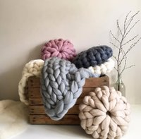 Wholesale pink knot for sale - Group buy Handmade Knotted Knot Ball Decorative Sofa Cushions Simple Car Home Decorative Pillows Cushions