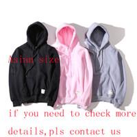 yeni moda tasarımcısı sweatshirtler toptan satış-Yeni Moda Hoodie Erkek Kadın Spor Kazak Boyutu S-XXL 5 Renk Pamuk Karışımı Kalın Tasarımcı Hoodie Kazak Uzun Kollu Streetwear