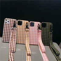 Wholesale bird case iphone online – custom Luxury Necklace Lanyard Strap Bird Grid Cloth Skin Ultra Thin Hard PC Shockproof Armor Cover Case For iPhone Pro XR XS MAX X Plus