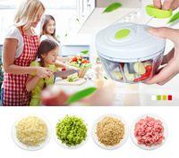 Wholesale manual kitchen grinder for sale - Group buy Eco Friendly Kitchen Tools Multifunction Chopper Design Chopper Garlic Cutter Vegetable Slicer Fruit Tools Manual Meat Grinder