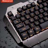 luz led para teclado de laptop al por mayor-1set USB Wired Gaming Keyboard Rainbow LED Backlit Gaming Keyboard Mechanical iluminado de luz para pc de escritorio portátil