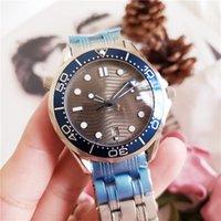 preto para borracha venda por atacado-007 James Mens Assista Movimento Automático Aço Inoxidável / Rubber Band Preto Azul Dial Sport Men Relógios