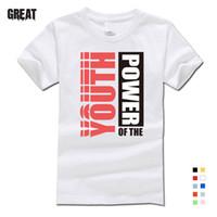 camisa crianças casal t venda por atacado-Nova cor do verão T-shirt de mangas curtas de impressão de algodão T-shirt dos homens de moda personalidade casal personalizado pai-filho