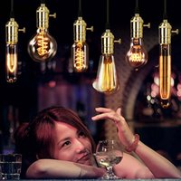 ingrosso filamento della lampada-Retro Edison Lampadina E27 220 V 40 W ST64 T45 G80 Lampadina Vintage Globo Lampadina Antico Lampadina Incandescente Edison Lampada Decor