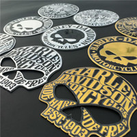 Wholesale 3d metal motorcycle emblems for sale - Group buy 9 cm D Metal Skull Car Styling Sticker Car Motorcycle Emblem Badge Decal Sticker Personalized Skull Logo Sticker Accessories