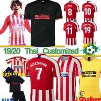 madrid futebol venda por atacado-Tailandeses 19 20 JOÃO Felix Atlético de Madrid de Futebol 2020 LLORENTE KOKE camiseta de fútbol camisa de futebol do futebol JOAO FELIX jerseys pé