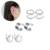 6Pairs Set Ear Cuff Punk Rock Ear Clip Cuff Wrap Earrings No Piercing Earring Fake Cartilage Wrap Jewelry
