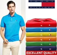 nouvelle arrivée polo achat en gros de-Nouvelle arrivée Hommes Polo Shirt Haute Qualité Marque LOGO Broderie hommes polo shirt hommes manches courtes 2019 Été Hommes polo Chemises S-5XL
