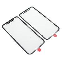 iphone передняя панель оптовых-Переднее стекло наружного стекла Len с рамкой OCA + в сборе для запасных частей сенсорной панели iPhone XR