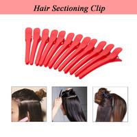 ingrosso cura dei blocchi di colore-12Pcs Salon Sectioning Hair Clip Grip Parrucchiere Sezioni Morsetti Clip professionali per capelli