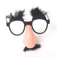 229d0ba140 Gros nez lunettes fête lunettes décoratives sourcils drôle lunettes lunettes  accessoires photo festival créatif en plastique vente chaude 1 78hp D1