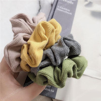 Wholesale hair accessories for sale - Group buy 11 Color Women Girls Winter Stripe Knit Crochet Cloth Elastic Ring Hair Ties Accessories Ponytail Holder Hairbands Rubber Band Scrunchies