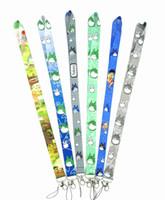 titulaire totoro achat en gros de-Grosses soldes! 10pcs 9-Style Classique Anime Mon Voisin Totoro Clé Lanyard Cheetah ID Titulaires D'insigne De La Bande De Téléphone Téléphone Bretelles Cou Gratuit