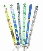 nachbar totoro lanyard großhandel-Schlussverkauf! 10 stücke 9-style Classic Anime Mein Nachbar Totoro Schlüssel Lanyard Gepard ID Abzeichen Halter Tier Streifen Telefon Umhängebänder Freies Shippin