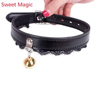 Wholesale belt bdsm women for sale - Group buy Sexy Lace Vintage Black Choker Bondage Collar Chain BDSM Belt With Bell Choker Bondage Cosplay Woman Adult Game Sex Flirt Toys
