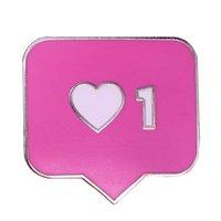ingrosso valentine uno-San Valentino regalo numero uno cuore per fidanzato fidanzato moglie marito smalto distintivo pin