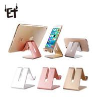telefone de mesa venda por atacado-ET suporte do telefone universal de metal anti-slip de telefone celular suporte desk desk mount suporte do telefone para o iphone smartphone samsung tablet