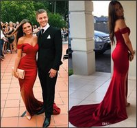 Wholesale 2k15 for sale - Group buy Red Prom Dresses Black Girl Sexy Split Side Couples Fashion k15 Red Carpet Gowns Formal Evening Party Wear Custom