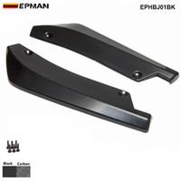 EPMAN -1Pair Carbon Fiber Universal Car Rear Bumper Lip Splitter Diffuser Chin Spoiler Canard Deflector EPHBJ01