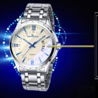 montres haut de gamme en platine achat en gros de-Mouvement à quartz chaud de montres à quartz en acier trempé montre de ceinture en acier trempé minéral étanche haut de gamme 30M