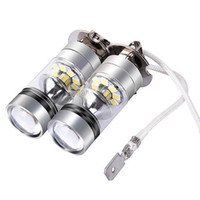 ledli araç ampulleri toptan satış-2 ADET Araç Beyaz 6000 K Sis / Sürüş Lambası 12 V H3 LED Araba ampuller Oto LED Sis Lambası DRL Gündüz Koşu Dış Işıklar Gündüz Sürüş
