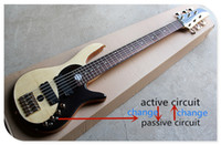 Wholesale guitar basses resale online - Taiji Pattern Strings Original Body Electric Bass Guitar with Golden Hardware Rosewood Fingerboard Can be customized