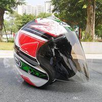 зелёные открытые мотоциклетные шлемы для лица оптовых-2020 Производитель NEW горячий 8GUCCI Arai SZ RAM 3 NICKY HAYDEN 69 ЗЕЛЕНЫЙ ЦВЕТОК Open Face Off Road Гонки Мотокросс мотоциклетный шлем