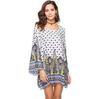 05559cc02fc39 Wholesale plus size hippie clothes online - Plus size XL WOMEN Clothing  summer long sleeve beach