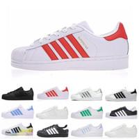 melhor venda de tênis venda por atacado-2019 Nova Chegada Superstar Sapatos Correndo Clássico Dos Homens E Mulheres Superstars Best Selling Sneakers Skateboarding Sapatos Casuais Pretos