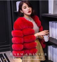 Wholesale female fur resale online - Womens Fur Vest Luxury Designer Winter Coats Casual Solid Color Female Fashion Jackets Woman Short Length Warm Outwear