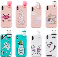 Wholesale case iphone silicon cartoon online – custom 3D Cute Cartoon Soft Silicon Case For Huawei Mate Lite P20 Galaxy S9 J4 J6 A6 A8 Cat Pig Unicorn Panda Unicorn Lovely Phone Cover