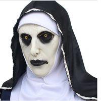 trajes de monja al por mayor-La monja Valak máscara de látex de lujo asustadiza cabeza completa cosplay del partido de Halloween de accesorios de Halloween Máscaras RRA2140