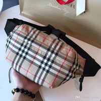 Wholesale bond bags for sale - Group buy New Men s Women s Medium Vintage Check Bonded Cotton Bum Bag Luxury Designer Bag Women s Crossbody Bag Adjustable clip belt