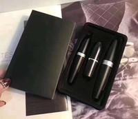 schwarzer seriensatz großhandel-Dropshipping Neue M-Marke Make-up Kollection Make-up-Set Matte Liquid Eyeliner Mascara Lippenstift-Sets 3 in 1 Lippen-Kit Kosmetik-Kit