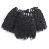Wholesale virgin afro curly hair weave resale online - Peruvian Curly Hair Afro Kinky Curly Bundles Deals A Unprocessed Indian Hair Afro Wave Curly Brazilian Virgin Hair Bundles