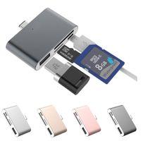 Wholesale usb otg hub for sale - Group buy Mobile Phone Camera Sd Tf Al Alloy U disk U usb Port Otg Hub Card Reader