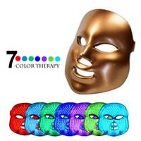 photon léger achat en gros de-7 Couleur Lumière Photon PDT LED électrique Massage du visage Masque du visage Soins de la peau Rajeunissement Thérapie anti-âge Promouvoir cellules de la peau RRA2104