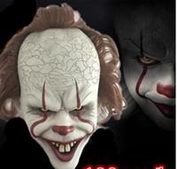 joker requisiten großhandel-Stephen Kings Es Maske Pennywise Horror Clown Joker Maske Clown Maske Halloween Cosplay Kostüm Requisiten GB840