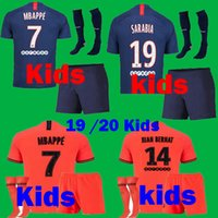 kits de fútbol juvenil al por mayor-Niños 2019 2020 Camisetas de fútbol PSG Mbappe CAVANI Diallo 19 20 Maillots Paris niño SARABIA niños jóvenes VERRATTI HERRERA Kits de camisetas de fútbol