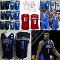 Wholesale indiana hoosiers jersey resale online - 2020 Duke Blue Devils College Jerseys Zion Williamson Barrett Reddish Bagley Indiana Langford Hoosiers Romeo Marvin RJ Cam XL