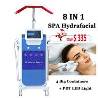 tratamentos faciais microcorrentes venda por atacado-New SPA Hydrafacial máquina dermoabrasão Facial Pele Resurfacing Hydrofacial tratamento de limpeza BIO Microcurrent Face Lift Equipment Hydra