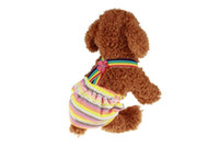 Wholesale size diaper resale online - Pet Dog Diapers Washable Female Physiological Pants For Pets Underwear Puppy Diaper Washable Sizes Multi Colors