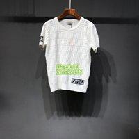 mürettebat boynunu özelleştir toptan satış-2019 Yeni Yaz Kadın Beyaz Renk Örgü Mektubu Kısa T-Shirt Tee Üstleri Ekip Boyun Triko Gömlek Sıcak Satış Tee Özelleştirmek Kısa Kollu Tee 19