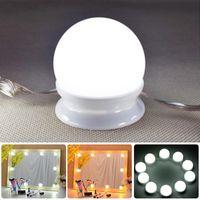 weiße streifen kleiden großhandel-LED-Kosmetikspiegel-Beleuchtungsset im Hollywood-Stil mit dimmbaren Glühbirnen, Beleuchtungsstreifen für Make-up-Schminktisch im Ankleideraum