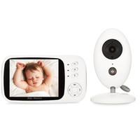 lcd baby monitor оптовых-babykam баба eletronica детские видео монитор xf808 3.5 дюймов ЖК-датчик температуры ИК ночного видения домофон колыбельные cry детские cam